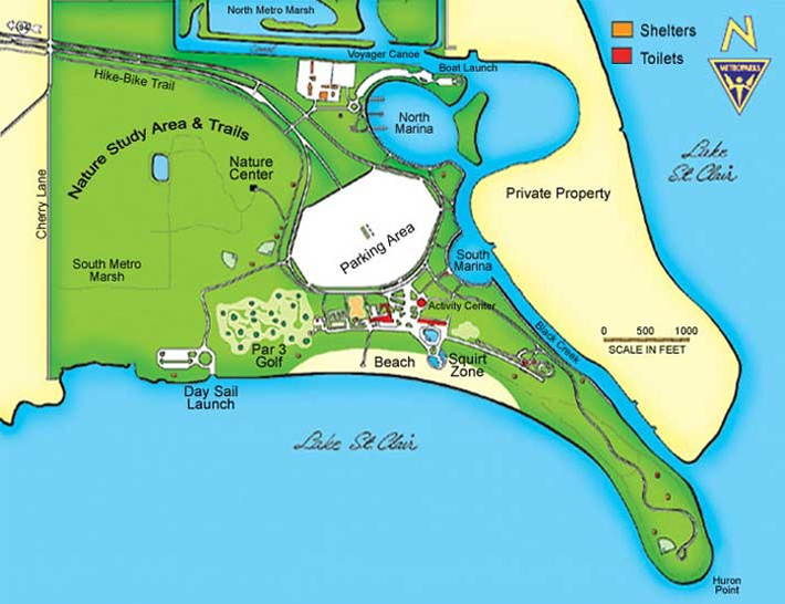 St Clair Beach Map